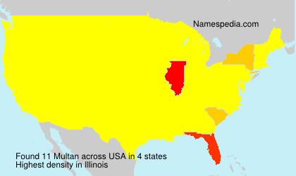 Surname Multan in USA