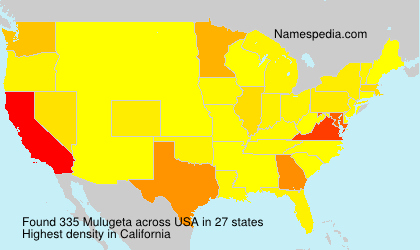 Surname Mulugeta in USA