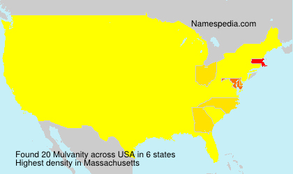 Surname Mulvanity in USA