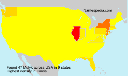 Surname Mulyk in USA