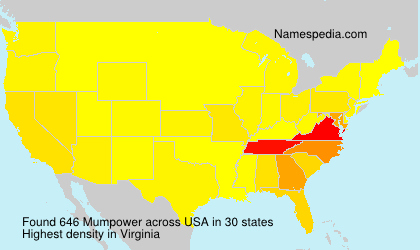 Surname Mumpower in USA