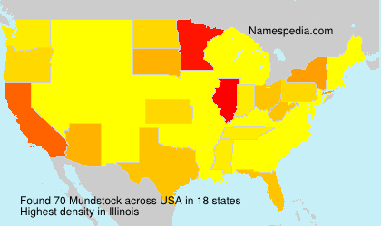 Surname Mundstock in USA