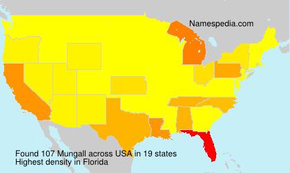 Familiennamen Mungall - USA