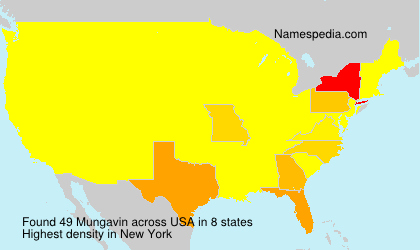 Surname Mungavin in USA