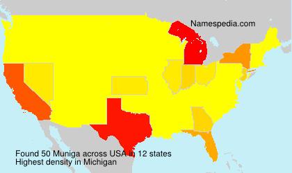 Surname Muniga in USA