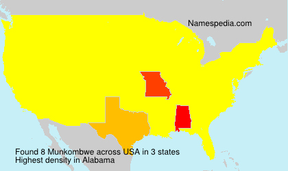 Surname Munkombwe in USA