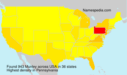 Surname Munley in USA