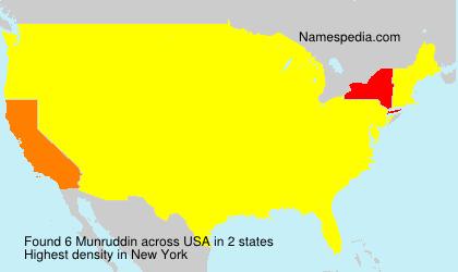Surname Munruddin in USA