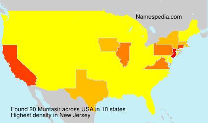 Familiennamen Muntasir - USA