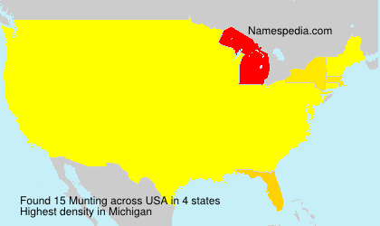 Surname Munting in USA