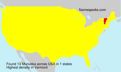 Surname Munukka in USA