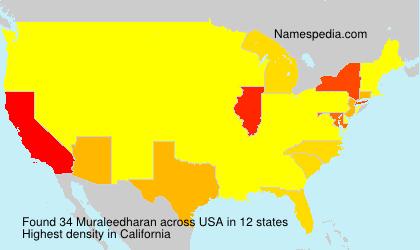 Surname Muraleedharan in USA