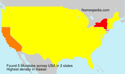 Surname Muratake in USA