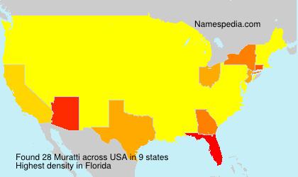 Surname Muratti in USA