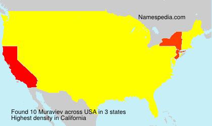 Familiennamen Muraviev - USA