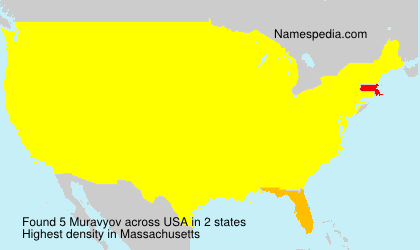Surname Muravyov in USA