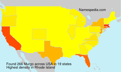 Surname Murgo in USA