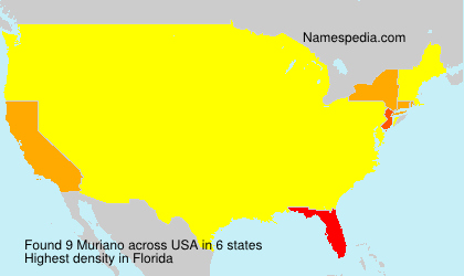 Surname Muriano in USA