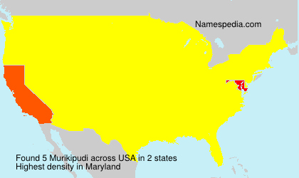 Surname Murikipudi in USA