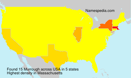 Surname Murrough in USA