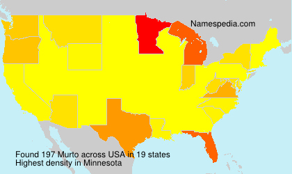 Surname Murto in USA