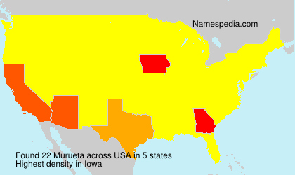 Surname Murueta in USA
