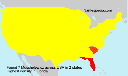Surname Muschelewicz in USA