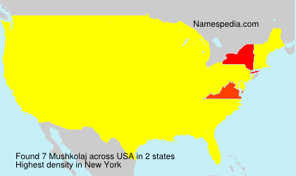 Surname Mushkolaj in USA