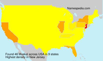 Familiennamen Muskal - USA