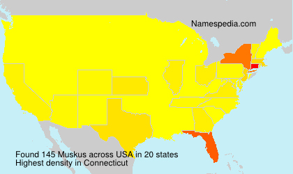 Surname Muskus in USA