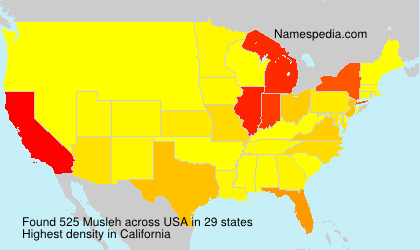 Surname Musleh in USA