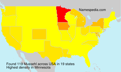 Surname Mussehl in USA