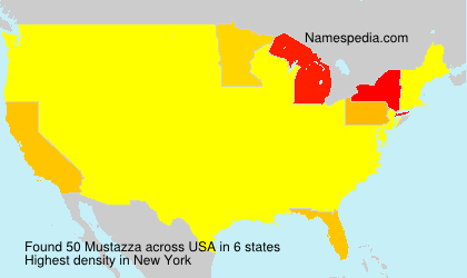 Surname Mustazza in USA