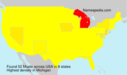 Surname Muste in USA
