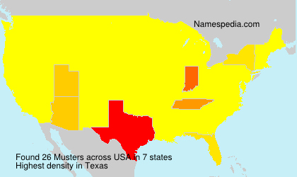 Surname Musters in USA
