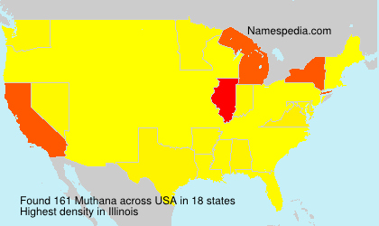 Surname Muthana in USA