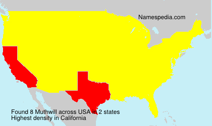 Surname Muthwill in USA