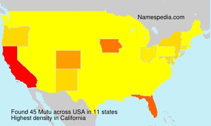 Surname Mutu in USA