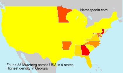 Surname Mutzberg in USA