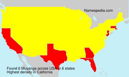 Familiennamen Muyanga - USA