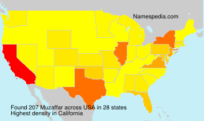 Surname Muzaffar in USA