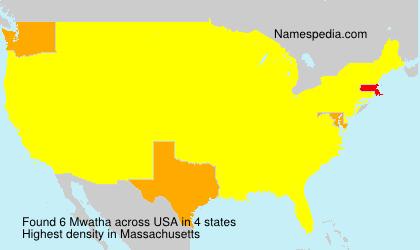 Surname Mwatha in USA