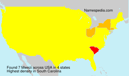 Surname Mwezi in USA