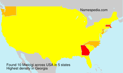 Surname Mwicigi in USA