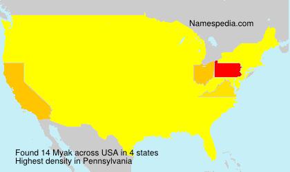 Surname Myak in USA