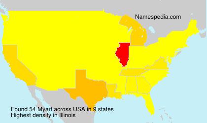 Surname Myart in USA