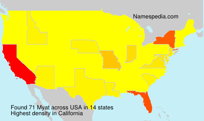 Surname Myat in USA