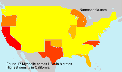 Surname Mychelle in USA