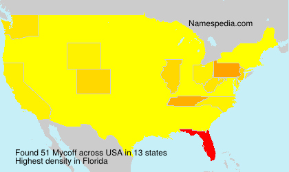 Surname Mycoff in USA