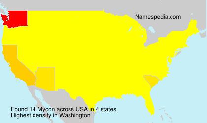 Surname Mycon in USA
